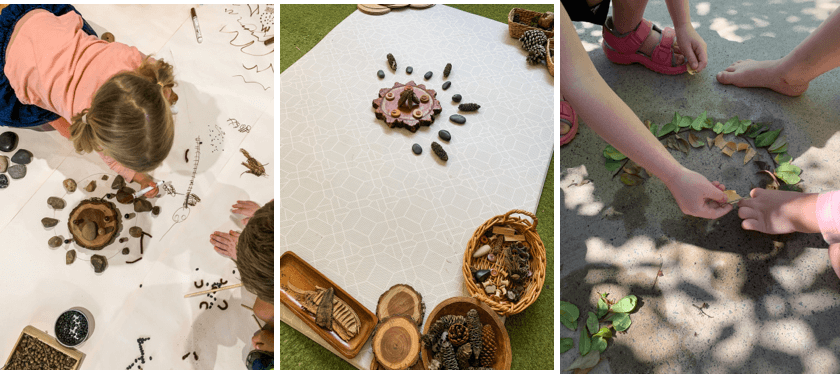 Childcare Diploma Student Sienna Shares 3 Simple Nature-Based Activities - This Activity Involves Clay And Loose Nature Items - This Picture is of Loose Items
